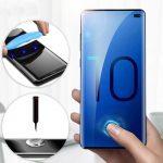 Samsung Galaxy S10 Plus UV 5D Full Glue teljes kijelzős edzett üvegfólia (tempered glass), 9H keménységű, átlátszó