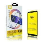 Glass Huawei P40 Lite E 6D Full Glue teljes kijelzős edzett üvegfólia (tempered glass) 9H keménységű, tokbarát, fekete