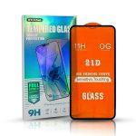 Glass Samsung Galaxy A31/A51 6D Full Glue teljes kijelzős edzett üvegfólia (tempered glass) 9H keménységű, tokbarát, fekete
