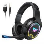 Wintory W1 Wireless Gaming Headphones vezeték nélküli fejhallgató mikrofonnal, fekete
