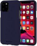 Mercury Goospery Soft Jelly Case iPhone 11 Pro Max hátlap, tok, sötétkék