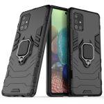 Armor Ring Samsung Galaxy A71 ütésálló hátlap, tok, fekete