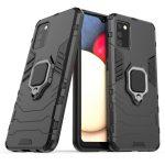 Armor Ring Samsung Galaxy A02s ütésálló hátlap, tok, fekete
