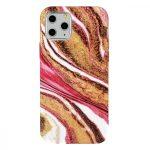 Perfect Fit Marble iPhone 12/12 Pro márvány mintás, szilikon hátlap, tok, színes