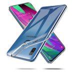 Tech-Protect Flexair Samsung Galaxy A40 szilikon hátlap, tok, átlátszó