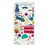 Slim Case Art London Elements Samsung Galaxy A7 (2018) szilikon hátlap, tok, mintás, színes