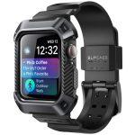 Unicorn Beetle Pro Apple Watch 4/5 nylon 44mm ütésálló tok és óraszíj, fekete