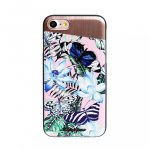 Uunique iPhone 7/8 Tropical Butterfly Hard Shell, hátlap, tok, pillangó-virágmintás
