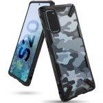 Ringke Fusion X Samsung Galaxy S20 hátlap, tok, mintás, fekete