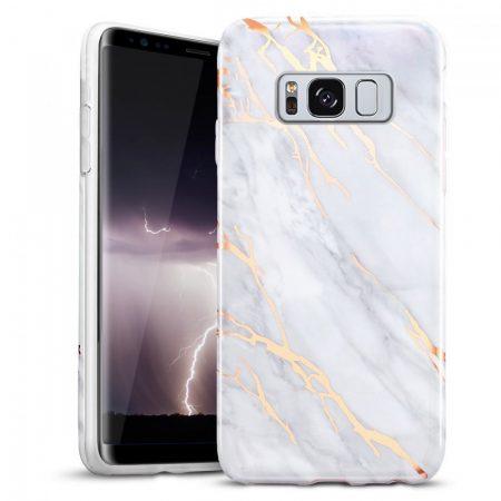 Zizo Marble Samsung Galaxy S8 Plus hátlap, márvány mintás, arany