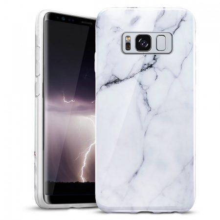 Zizo Marble Samsung Galaxy S8 Plus hátlap, márvány mintás, fehér