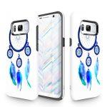 Zizo Sleek Hybrid Design Samsung Galaxy S8 hátlap, tok, kék toll mintás