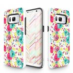 Zizo Sleek Hybrid Design Samsung Galaxy S8 hátlap, tok, virágmintás, színes