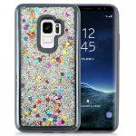 Zizo Liquid Glitter Star Case Samsung Galaxy S9, szív mintás, fekete