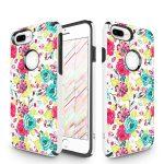 Zizo Sleek Hybrid Design iPhone 7 Plus/8 Plus hátlap, tok, virágmintás