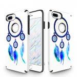 Zizo Sleek Hybrid Design iPhone 7 Plus/8 Plus hátlap, tok, kék toll mintás