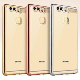 Clear Case Huawei Ascend Y5 II (2016) hátlap, tok, átlátszó-arany