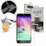 LG K8 (2017) kijelzővédő edzett üvegfólia (tempered glass) 9H keménységű (nem teljes kijelzős 2D sík üvegfólia), átlátszó