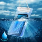 Univerzális vízálló tok, XXL méret: 10,5x18cm, fehér