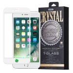 REMAX iPhone X Crystal Glass 3D teljes kijelzős edzett üvegfólia 9H keménységű, fehér + szilikon hátlap, tok, átlátszó