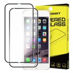 iPhone 6 Plus/6S Plus Wozinsky elő+hátlapi 3D teljes kijelzős edzett üvegfólia 9H keménységű alumínium kerettel, fekete