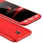 Full Body Case 360 Samsung Galaxy J3 2017, elő-hátlap tok, piros