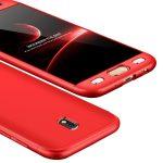 Full body case 360 Samsung Galaxy J7 (2017) elő-hátlap tok, piros