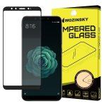 Wozinsky Xiaomi Mi A2/Mi 6X Pro Glass Screen 5D Full Glue teljes kijelzős edzett üvegfólia (tempered glass), 9H keménységű, tokbarát, fekete