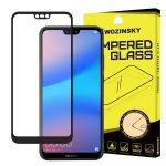 Wozinsky Huawei P20 Lite 5D Full Glue teljes kijelzős edzett üvegfólia (tempered glass) 9H keménységű, tokbarát, fekete