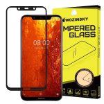 Wozinsky Nokia 8.1/X7 5D Full Glue teljes kijelzős edzett üvegfólia (tempered glass) 9H keménységű, tokbarát, fekete