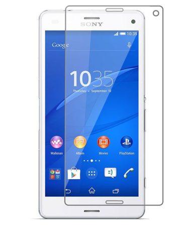 Sony Xperia M5 kijelzővédő edzett üvegfólia (tempered glass) 9H keménységű (nem teljes kijelzős 2D sík üvegfólia), átlátszó